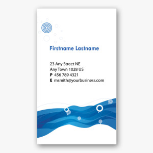 Blue Business Card 2