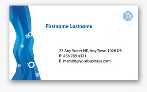 Blue Business Card 1
