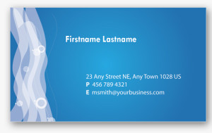 Blue Business Card 3