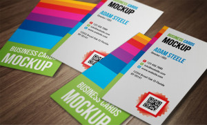 Verticle Business Cards Mokup