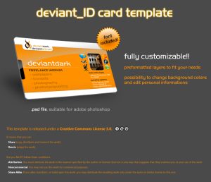 Deviant ID card Template