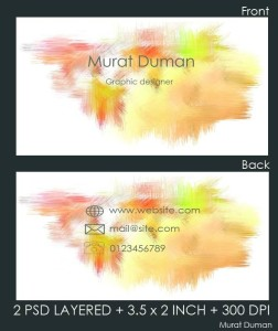 Free Colored Business Card