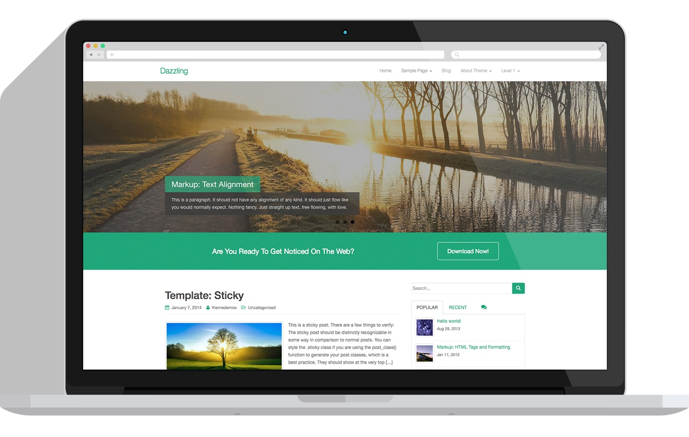 Dazzling-wordpress-theme