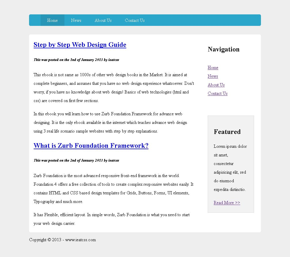 Panel Css Example Css Example Website Step6