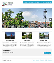 Zurb Foundation Framework Example Site Tourist Spot Screenshot