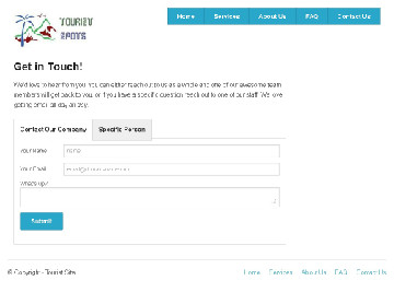 Zurb Foundation Framework - Tourist Spot Contact Us Page Layout