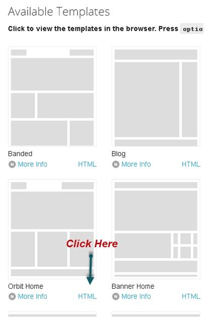 website code template