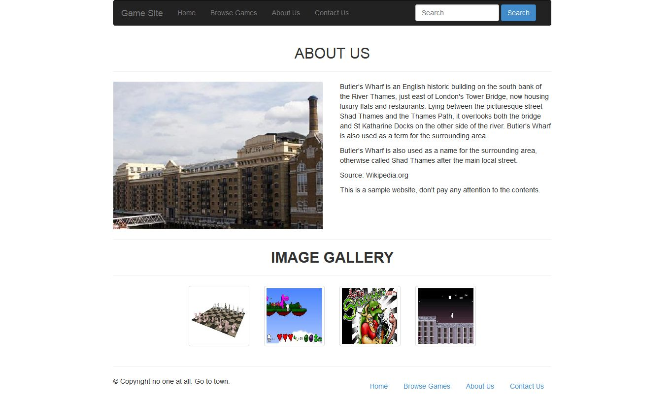 Twitter bootstrap free tutorial twitter bootstrap game site about us page baditri Image collections